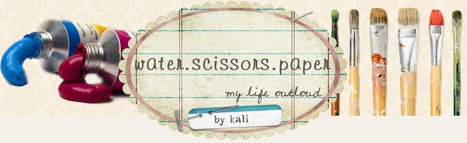water scissors paper