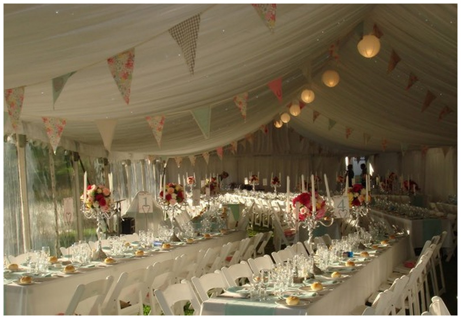 Colourful quirky wedding bunting - Decoracion para bodas vintage ...