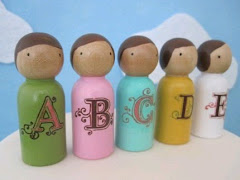 Alphabet Crew- A B C D E peg people pals for being cute or topping cupcakes