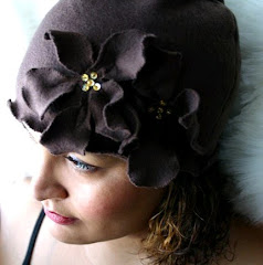 COCO - Cozy Forties Style Hat - Walnut Color
