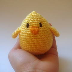 Amigurumi crocheted yellow chic -bird