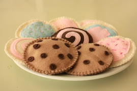 Felt Cookie Set - Felt Pretend Play Food