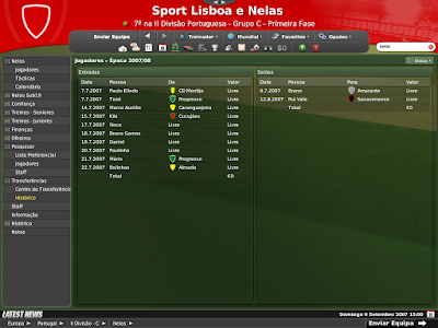 Football Manager 2008 - O Ultimo save - Sport Lisboa e Nelas - II