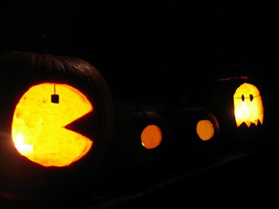Pacman and Ghost Pumpkin