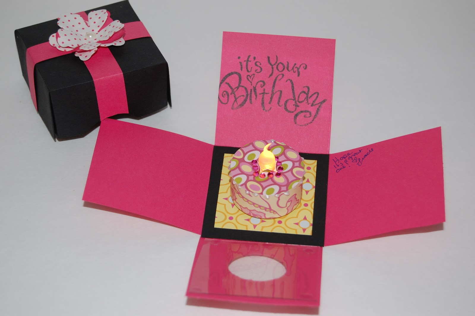The Crafty Touch Explosion Box Birthday Card with Tealight Candle – Birthday Cards in a Box