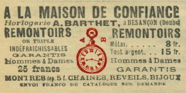 horlogerie A. BARTHET