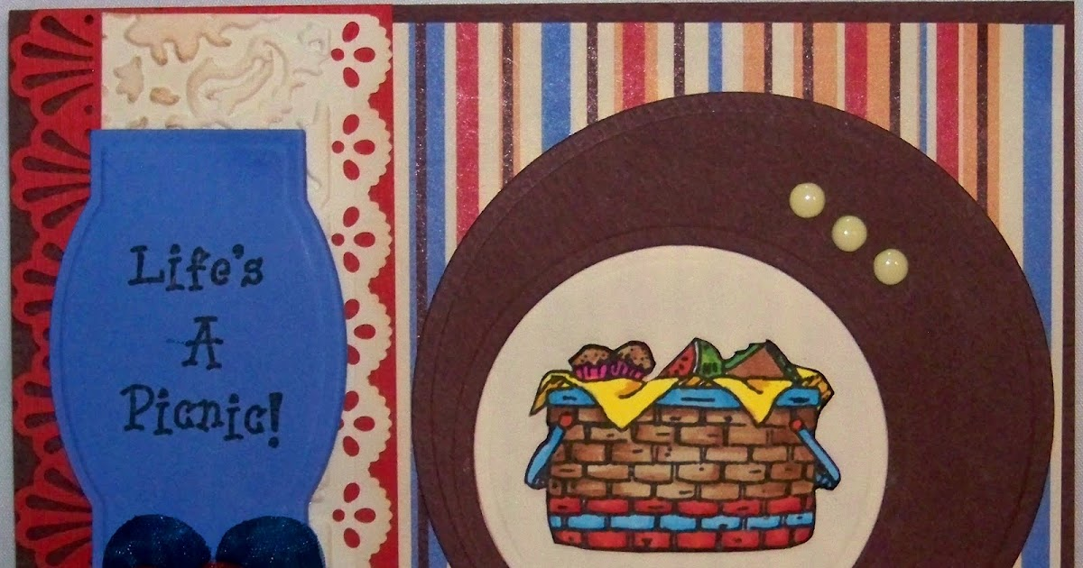 Picnic Basket Spotlight : Crackerbox palace rubber stamp picnic basket in the
