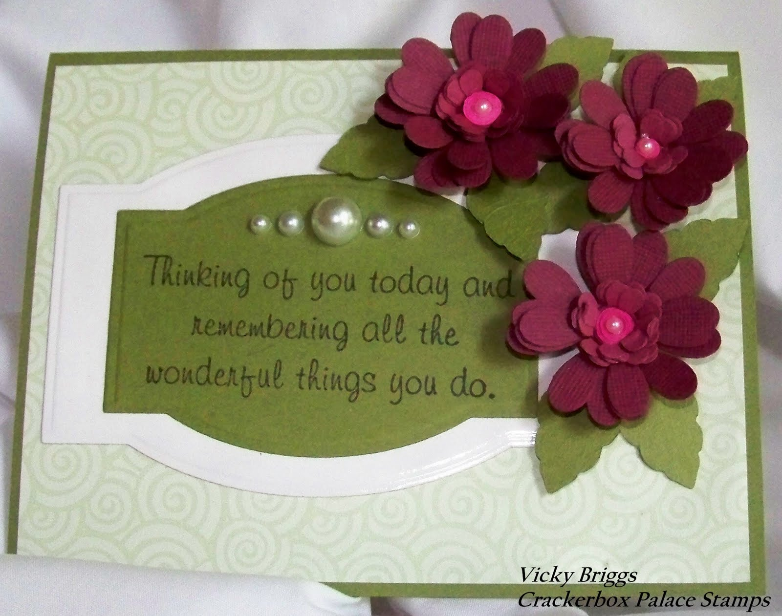 Vickys Corner Rubber Stamp Blog Thinking Of You With Quilling Flowers