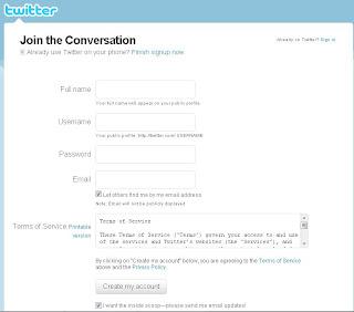 Cara Daftar Akun Twitter