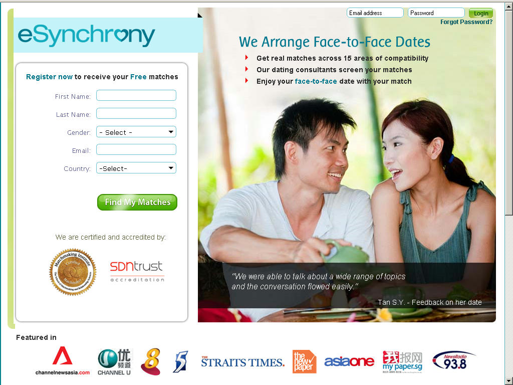 Online dating harmony