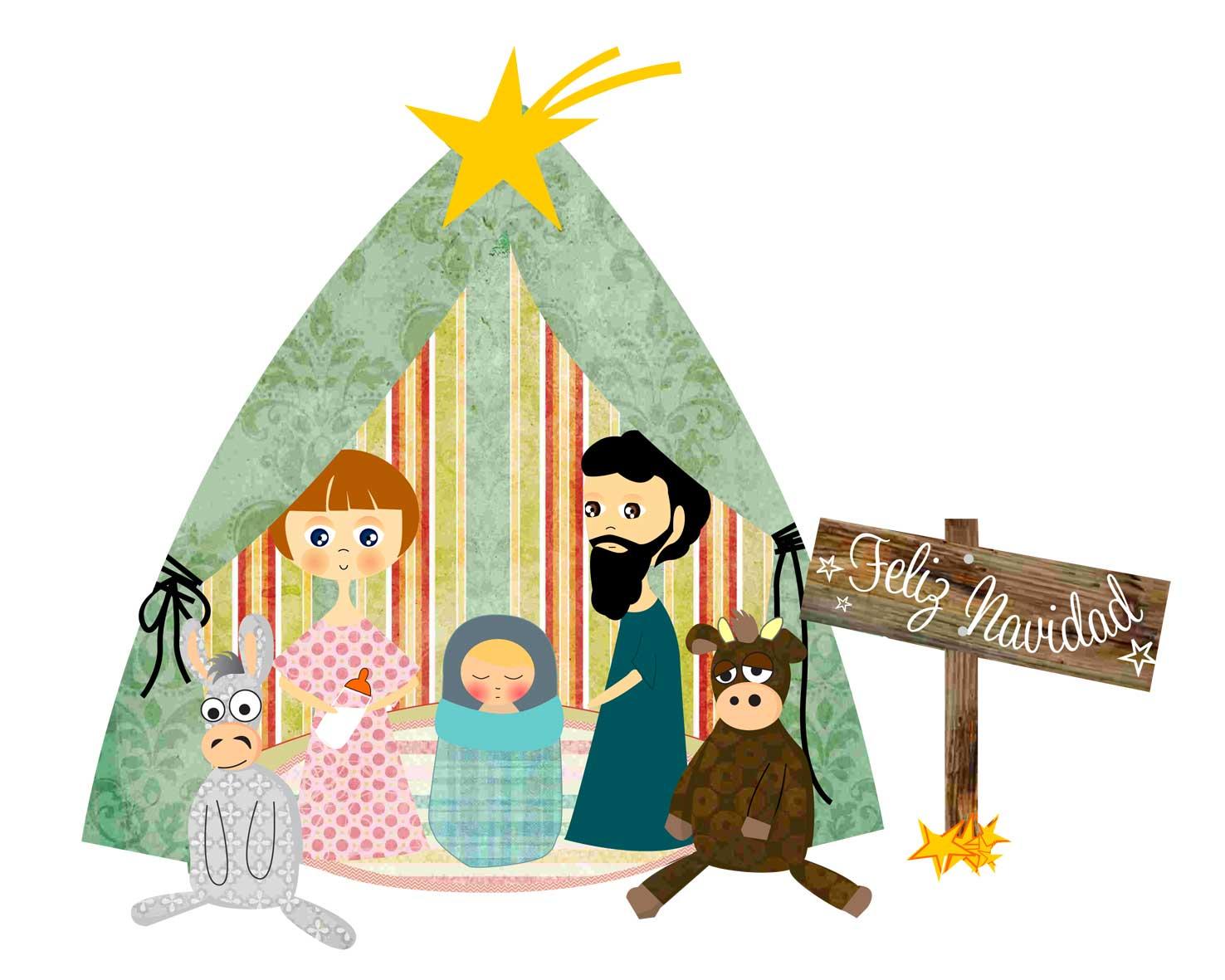 Pesebre Y   Rbol De Navidad Anti Peques