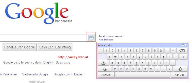 virtual keyboard pada google.co.id