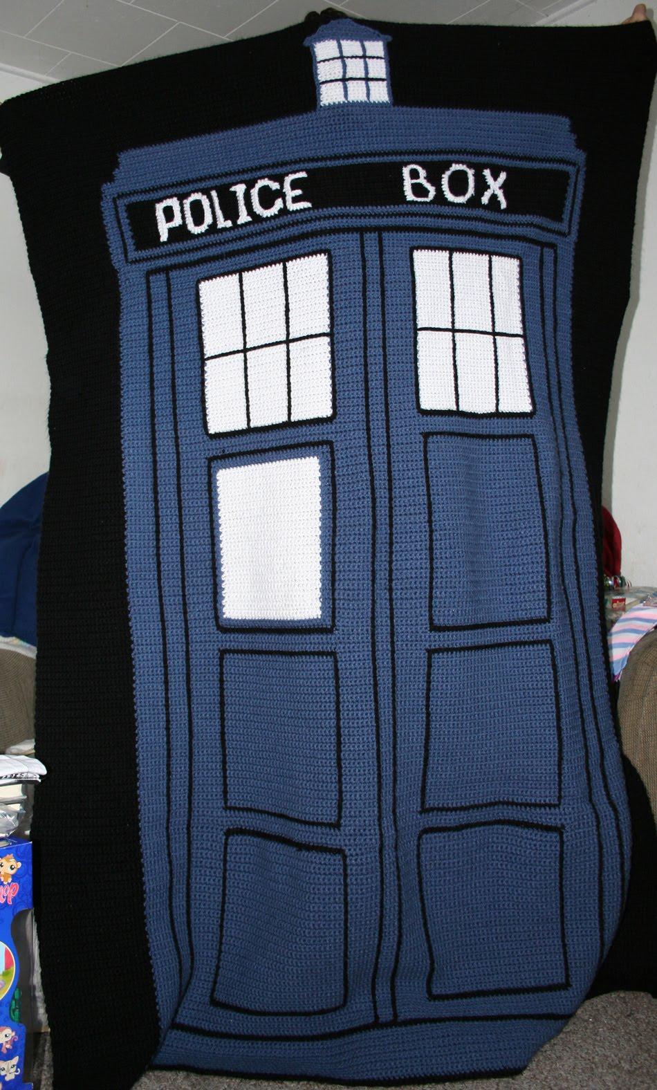 Tardis Blanket Knitting Pattern : TARDIS blanket - CROCHET