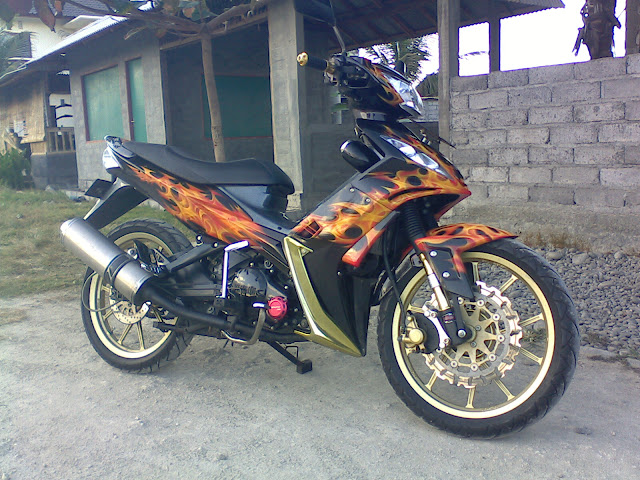 Gambar modifikasi Modifikasi cat Jupiter MX tahun 2006 di Air Brush