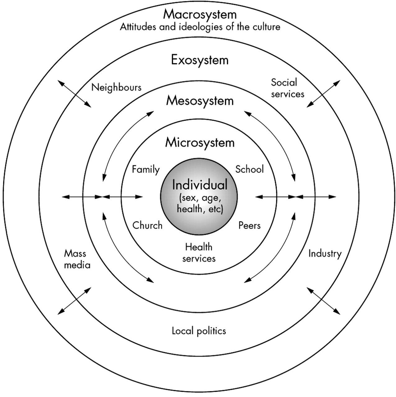 bronfenbrenner ecological systems theory (witt & mossler, 2010, urie bronfenbrenner and ecological theory para 1) the ecological theory is made up of 5 systems, microsystem, mesosystem, exosystem, and chronosystem family, according to ecological theory, is a part of the microsystem my family has been the most influential part of my development.