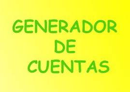 GENERADOR DE CUENTAS