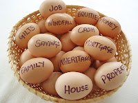 photo of all my eggs in one basket