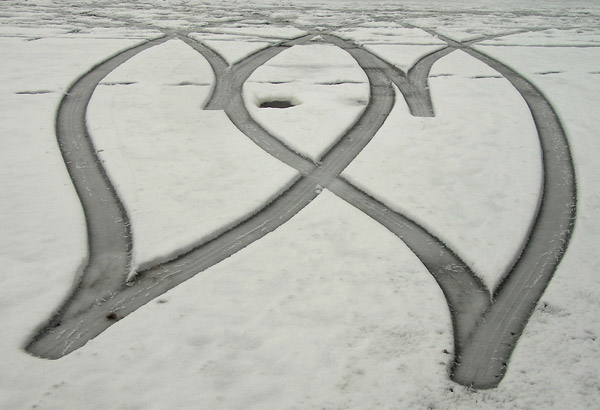 Car Tracks Hearts