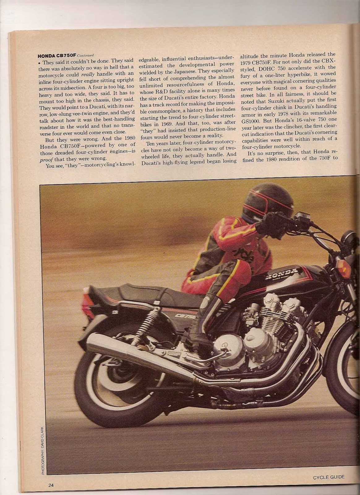 Cycle Guide Magazine  From The Cycle Guide Archives  The Day Honda