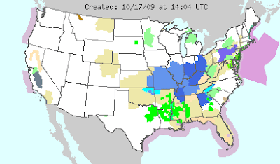 Community Collaborative Rain Hail Snow Network - Air masses map of us
