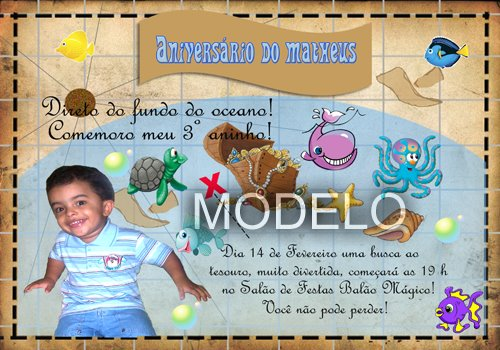 Convites para aniversário infantil