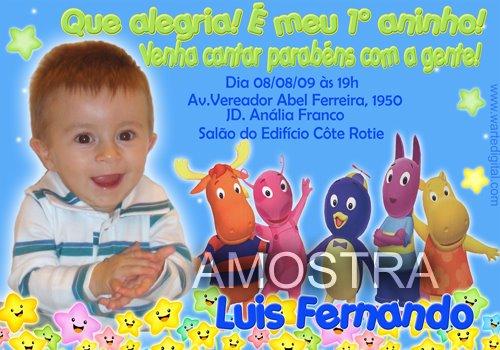 Convites de Aniversário Infantil