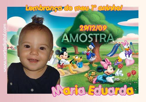 01 - CONVITES INFANTIS E LEMBRANCINHAS W.ARTE DIGITAL