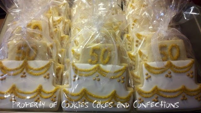 a very Happy 50th Wedding Anniversary Much love Posted by Cookies Cakes