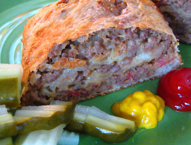 MAN CAVE Bacon Cheeseburger Pizza Roll title=