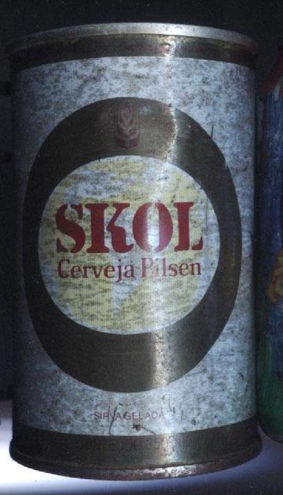 Skol Primeira Cerveja Em Lata   Cole    O De Latinhas