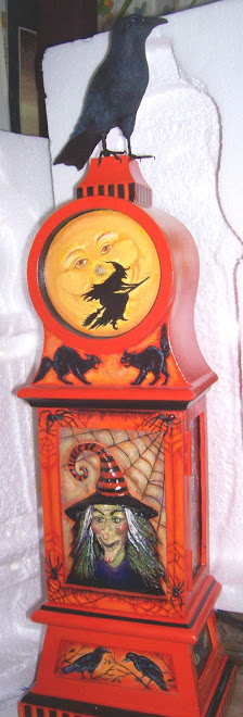 Hand painted and handsculpted Clock