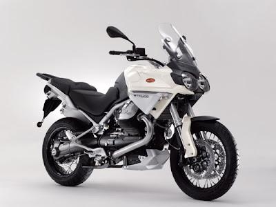 2009 Moto Guzzi Stelvio 1200 4V Front Angle View