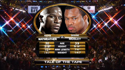 mayweater vs mosley tale of the tape