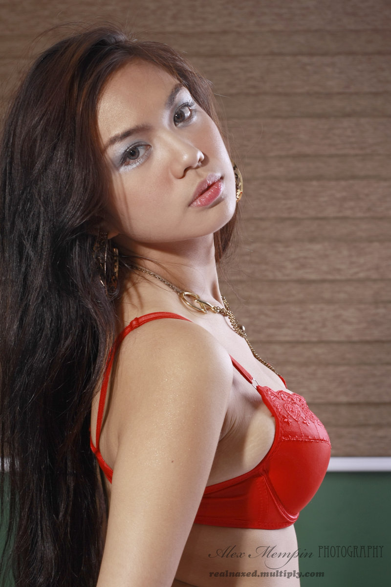 jahziel manabat sexy in red bikini 05