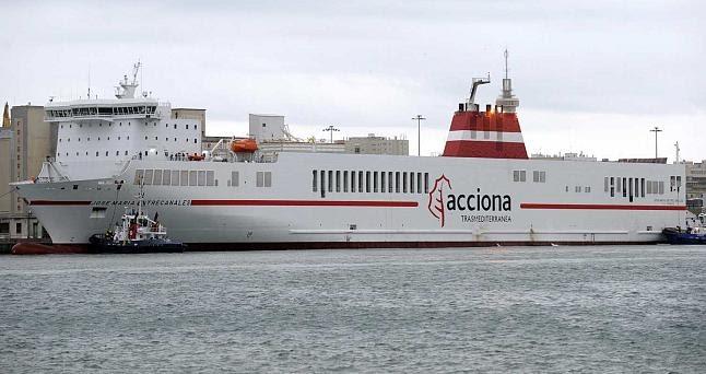 Blog de aduana y transporte en canarias acciona transmediterranea aumenta su capacidad de carga - Transporte entre islas canarias ...