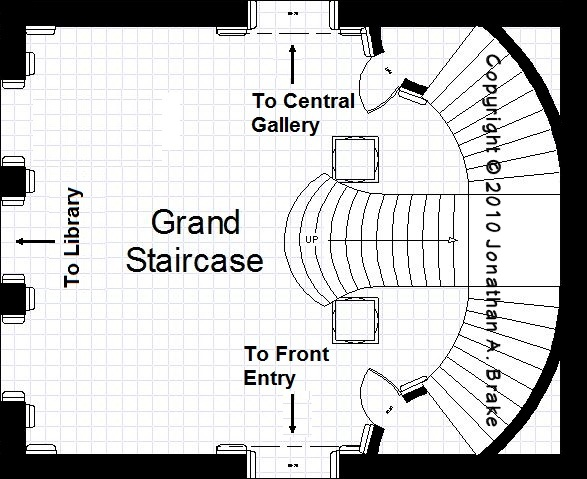 To Explain The Preliminary Sketch, The View Of The Grand Stair Hall Is  Taken From The Formal Library, Which Is Immediately Adjacent (The Camera Is  ...