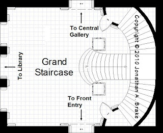 The mansion project the mansion 39 s grand stair hall for Mansion floor plans with ballroom