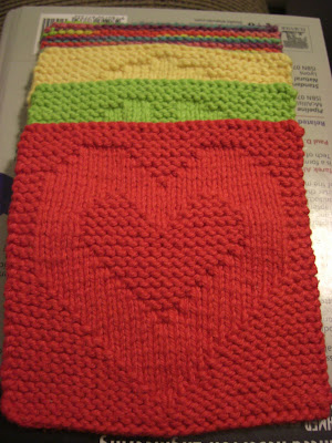 A Knitting Mountain Love Washcloth Pattern