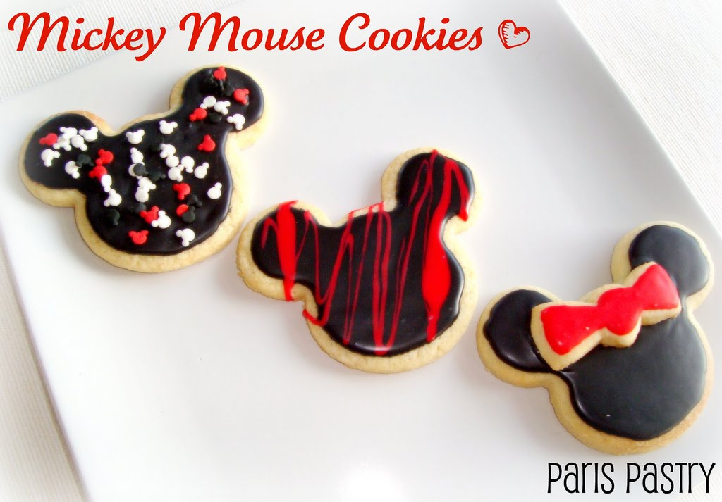 Paris Pastry Mickey Mouse Cookies