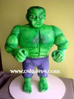 cakelava Going Green The Incredible Hulk Cake
