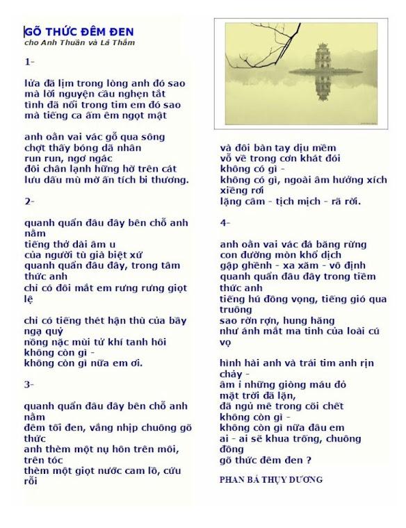 thơ phan bá thụy dương