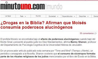 ¿Drogas en la Biblia? Moisés consumía alucinógenos Moises