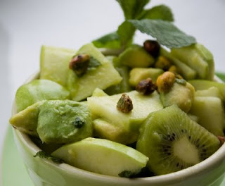 spring green fruit salad