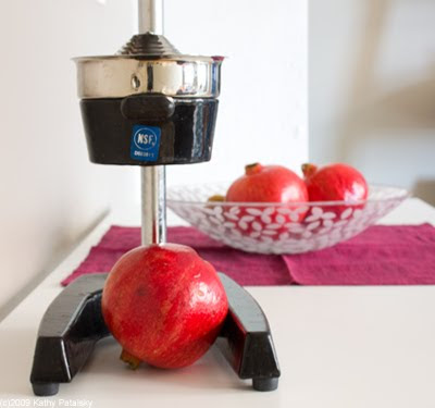 Fresh Crushed Pomegranate Juice! Use a Manual Juicer.