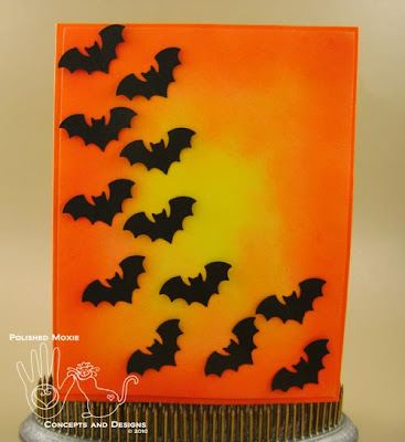 Picture of handmade Batty for You Halloween Card