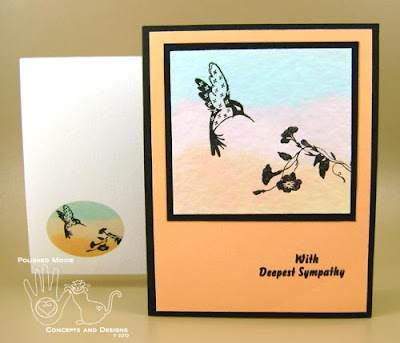 Picture of sympathy card and its coordinating envelope
