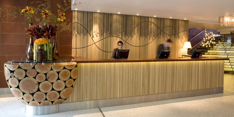 Hotel reception design ideas modern diy art design for Wooden hotel design