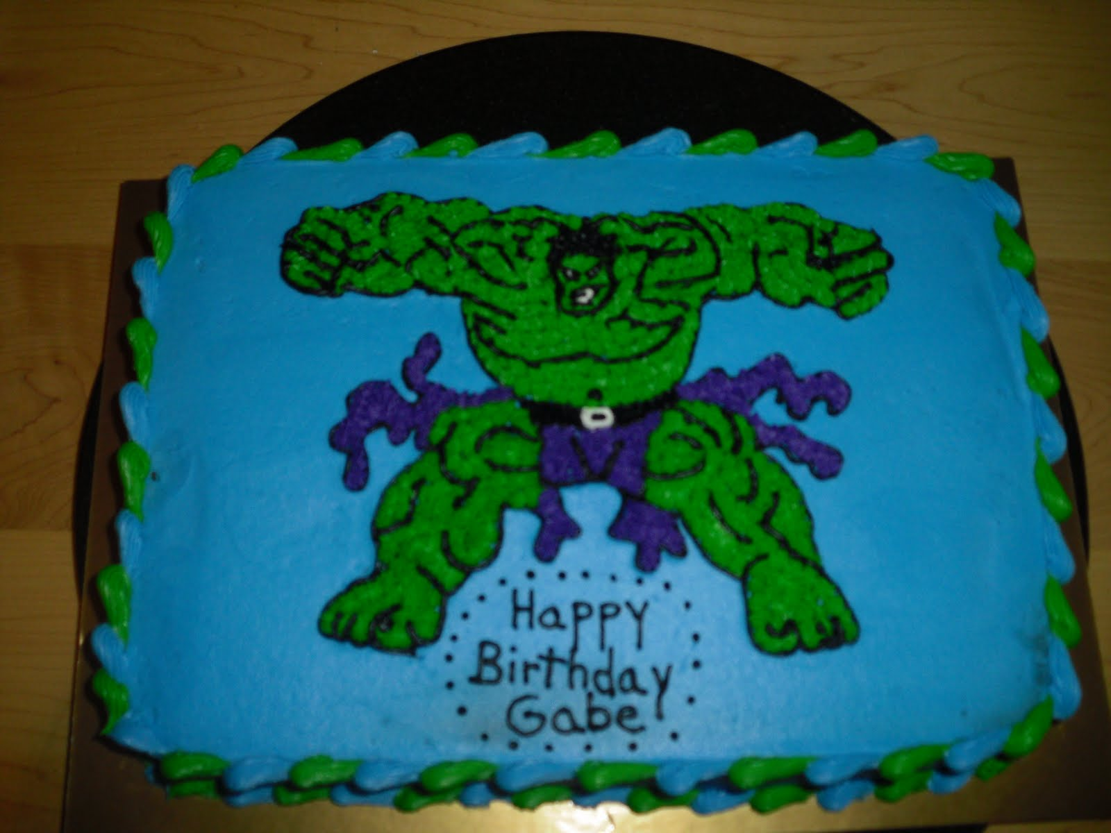 Cake Designs by Steph: Incredible Hulk cake!
