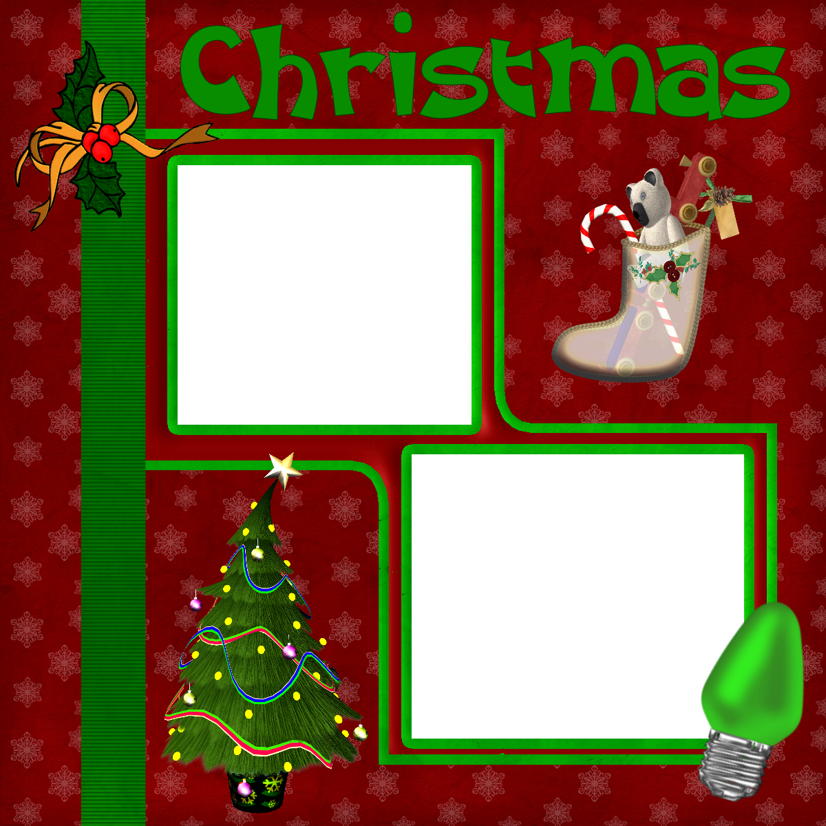 Wrapped For Life: Christmas Scrapbook Layout 1