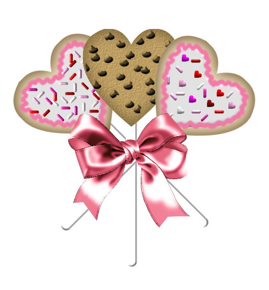 Valentine Cookie Bouquets. Here are a couple completed bouquets for you.